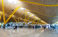 Interior of Barajas Airport   in Madrid, Spain Royalty Free Stock Photo