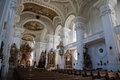 Interior of a baroque church Royalty Free Stock Photography
