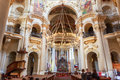 Interior Of Baroque Church Of St. Nicholas - Old Town Square in Royalty Free Stock Photo