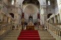 Interior of the basilica of saint martin tours france Stock Photography