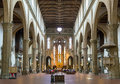 The interior of the Basilica of Santa Croce in Florence, Italy Royalty Free Stock Photo