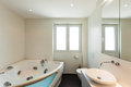 Interior bathroom modern house view Royalty Free Stock Image