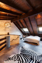 Interior beautiful loft luxurious bedroom Royalty Free Stock Photography
