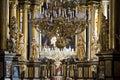 Interior bernardine church rich of the renaissance in lvov ukraine Stock Photo