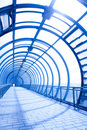 Interior of the blue bridge Royalty Free Stock Photography