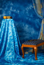 Interior in the blue colors Royalty Free Stock Photography