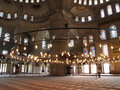 Interior of the Blue mosque Stock Photography