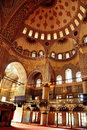 Interior of Blue Mosque in Istanbul Royalty Free Stock Photo