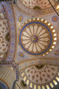 Interior of the Blue Mosque /  Istanbul, Turkey Royalty Free Stock Photo
