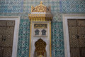 Interior of the blue mosque Royalty Free Stock Photo