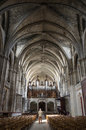 Interior of bordeaux cathedral cathedrale saint andre de is a roman catholic seat the archbishop bazas Royalty Free Stock Photography