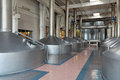 Interior of the brewery brewing production mash vats nobody Royalty Free Stock Photography