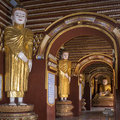 Interior buddhist temple complex mohnyin thambuddhei paya monywa myanmar burma dates was reconstructed said to contain over images Stock Photos