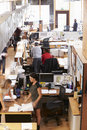 Interior Of Busy Architect's Office With Staff Working Royalty Free Stock Photo