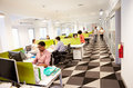 Interior Of Busy Modern Design Office Royalty Free Stock Photo