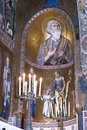 Interior of Cappella Palatina Royalty Free Stock Image