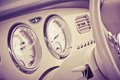Interior of car retro style image Royalty Free Stock Photography