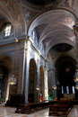 Interior of Cathedral in Ferrara, Italy Royalty Free Stock Photography