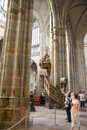 Interior of the Cathedral of Saints Vitus - Prague