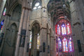 Interior of cathedral in trier germany Stock Photography