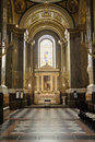 Interior of a catholic church Royalty Free Stock Photo