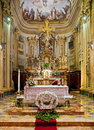 Interior of catholic church. Royalty Free Stock Photo