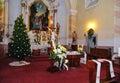 Interiér katolické kostela v Štefultove