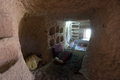 Interior of the cave dwelling in Cappadocia. Turkey Royalty Free Stock Photo