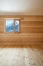 Interior chalet architecture modern design wooden wall room view Royalty Free Stock Photos