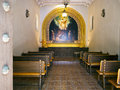 Interior of a chapel in Sedona, Arizona Royalty Free Stock Image