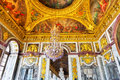 Interior chateau of versailles france september mirrored ballroom france on september palace was a royal Royalty Free Stock Images