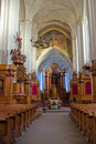 Interior of the Church of Bernardines' in Vilnius Royalty Free Stock Photo