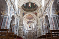Interior of church la chiesa del gesu or casa professa in palerm baroque designed by architect jesuit giovanni tristano was Royalty Free Stock Photo