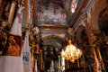 Interior in the church in lvov beautiful one of churches Royalty Free Stock Photos