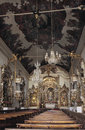 Interior of the church of Nossa Senhora de Pilar in Sao Joao del Royalty Free Stock Photo