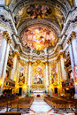 The interior of the Church of St. Ignatius of Loyola is full of works of art