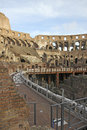 Interior of colosseum rome the originally the amphitheatrum flavium is an elliptical amphitheatre in the centre the city italy the Royalty Free Stock Photography