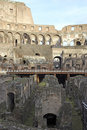 Interior of colosseum rome the originally the amphitheatrum flavium is an elliptical amphitheatre in the centre the city italy the Royalty Free Stock Photo