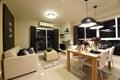 Interior of condominium room or bedroom Royalty Free Stock Image