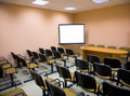 Interior of a conference hall in pink tones Stock Image