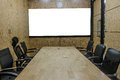 Interior conference room, empty meeting room, boardroom, Classroom, Office, with white projector board.. Royalty Free Stock Photo