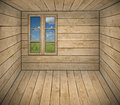 Interior of cottage room background Royalty Free Stock Image