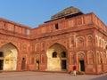 Interior courtyard of Jahangiri Mahal in Agra Fort, Uttar Pradesh, India Royalty Free Stock Photo