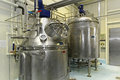 Interior dairy factory fermentation tank Stock Photo