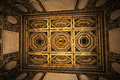 Interior decorated ceiling of room in the historic house Royalty Free Stock Photo