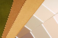 Interior design color choice close up of the Royalty Free Stock Photo