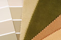 Interior design color choice closeup of the Royalty Free Stock Image