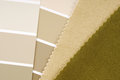 Interior design color choice closeup of the Royalty Free Stock Photography