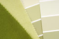 Interior design color choice green Royalty Free Stock Photography