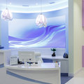 Interior design reception in a clinic Stock Photo